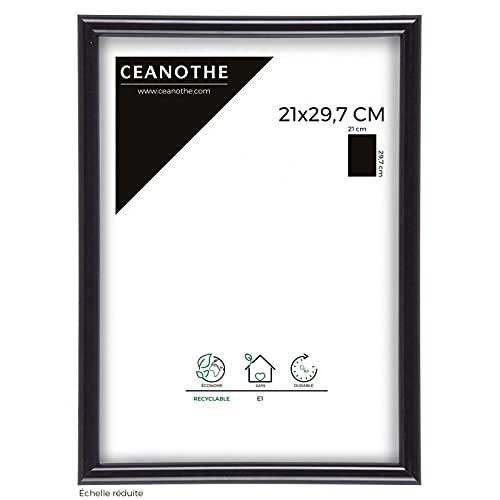 IMAGINE Cadre Photo Expo Noir 21x29,7 cm, Résine Plastique - Marque française
