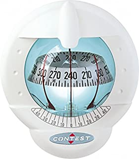 Nautos 51006 – Contest 101 Compass - Mount Inclined 10 to 25 Degrees-White Compass with White Card- PLASTIMO 64424