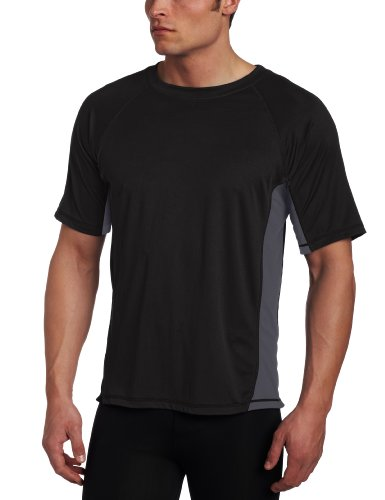 Kanu Surf Men's CB Rashguard UPF 50+ Swim Shirts (Regular & Extended Sizes), Black, Medium