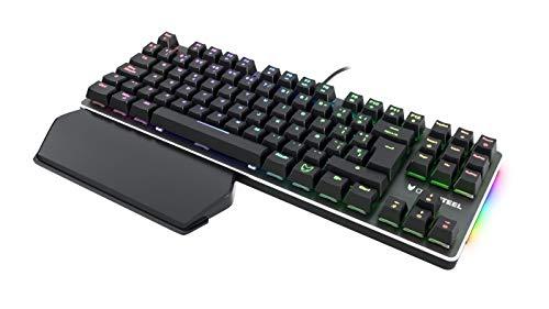 Oversteel TITANIUM TKL - Mechanische Gaming-Tastatur, RGB, Red Switch, deutsches Layout