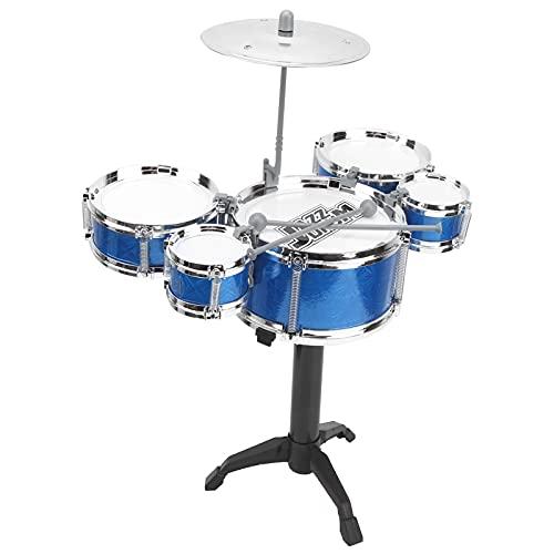BOLORAMO Juguete Musical de Tambor de Jazz, batería para niños Juego de batería de Jazz para niños pequeños para estimular la Creatividad de los niños(Tambor de Jazz de simulación)