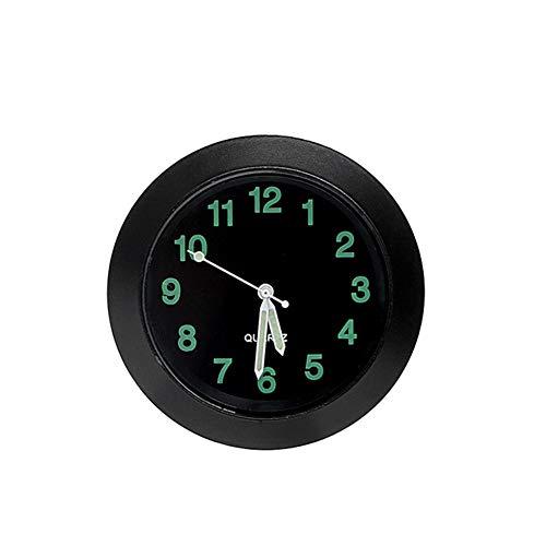 Proglam - 1 mini orologio luminoso al quarzo, decorazione per bocchette dell'aria dell'auto Nero