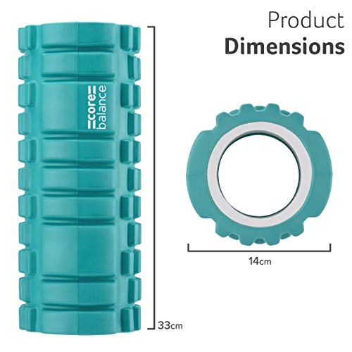 Core Balance Trigger Grid Foam Massage Roller, Muscle Target Point System, Gym Fitness Physio Rehab Exercise