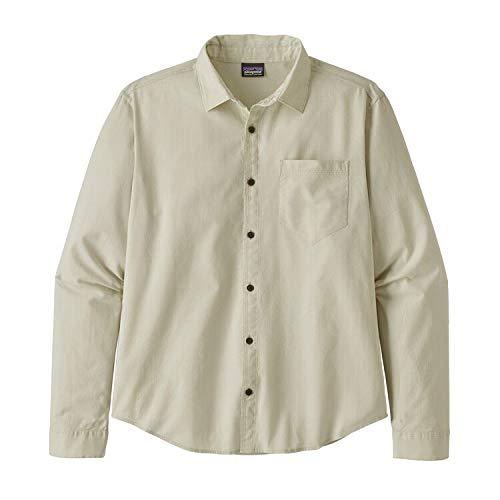 Patagonia M's L/S Organic Cotton Slub Poplin Shirt Haut Homme, Gris (End on End/Cement Grey), L