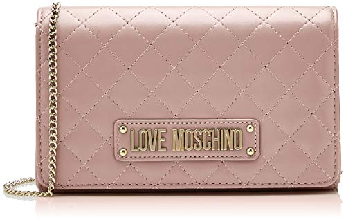 Love Moschino Damen Quilted Nappa Pu Clutch, Pink (Rosa), 15x10x15 centimeters