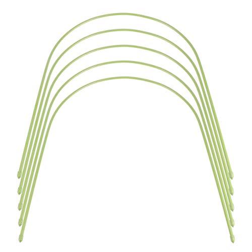 DOITOOL 5PCS Gewächshaus Hoops Stahl mit Kunststoff Beschichtet Hoops Wachsen Tunnel Hoops Wachsen Tunnel Unterstützung Rahmen Unterstützung Hoops für Garten Netting (54X40cm) Gewächshaus
