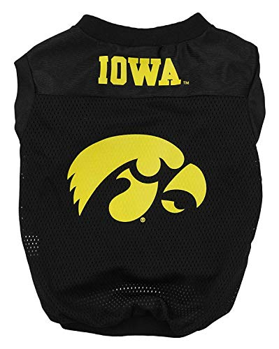 Sporty K9 NCAA Footbal Mesh Dog Jersey, Iowa Hawkeyes Small