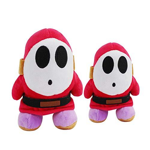 Mario Plush 2 unids/lote Super Mario Super Mario Mascarilla Hombre Tímido Muñeco Peluche Muñeca Juguete Colgante Muñeca