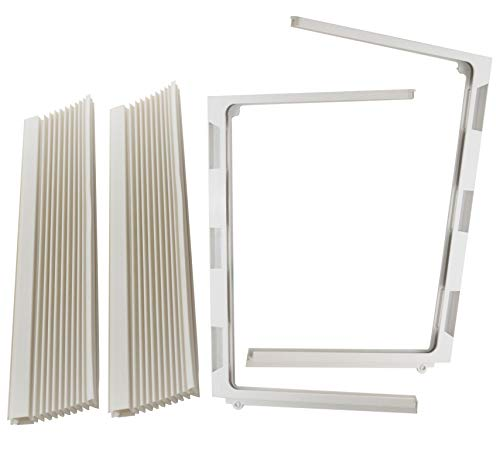 Just4Repair 1 Pair Window air Conditioner Side Curtains and Frame Set L&R (Haier AC-0850-190)