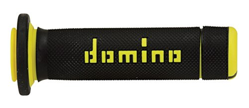 DOMINO - 83631 : Puños para ATV/Quad Domino 118mm negro/amarillo A18041C4740