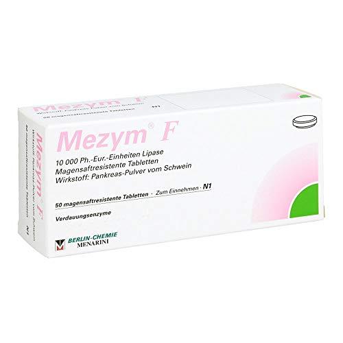 BERLIN-CHEMIE Mezym F Filmtabletten Verdauungsenzyme bei Verdauungsstörungen, 50 St. Tabletten