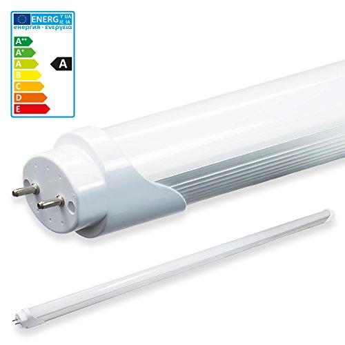 LEDVero 1x SMD Tubo/tubo LED fluorescente T8 G13 -Cover bianco opaco120 cm, 18 W, 1800lumen- pronto per l'installazione, Colore Luce:bianco caldo