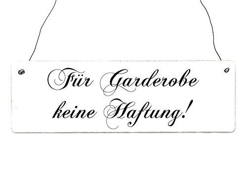 Interluxe Shabby Vintage Schild Türschild FÜR Garderobe Keine HAFTUNG Chopin Dekoration