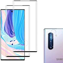 [2+2Pack] Galaxy Note 10 plus Screen Protector Tempered Glass Include 2 Camera Lens Protector Tempered Glass Screen Protec...