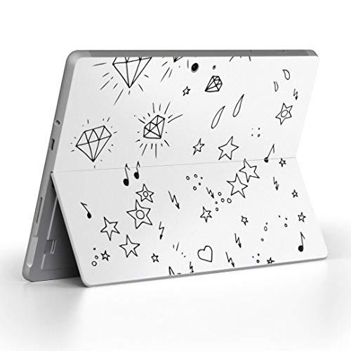 igsticker Surface Go/Surface Go 2 専用スキンシール サーフェス go シール スキン 保護 フィルム ステッカー アクセサリー 012023 イラスト かわいい 星