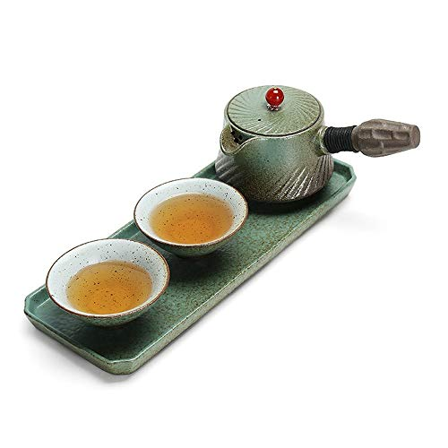 QuRong Tea cadeauset voor Japanse thee, met prachtige nagellak voor het huis met handvat en handgreep voor 2 volwassenen geschikt voor thee of koffieset Europea Tea Retro