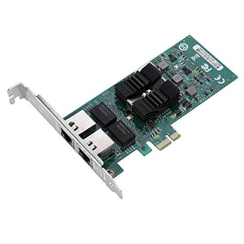 Praktischer 1000-Mbit/s-PCI-E-Netzwerkadapter mit Zwei Anschlüssen PCI-E-Netzwerkkarte Gigabit-Server NIC Intel 82576 Desktop-NIC Stabil für PC für Desktop für Computer
