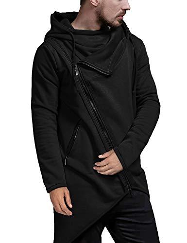 Capa Negra Con Capucha  marca COOFANDY