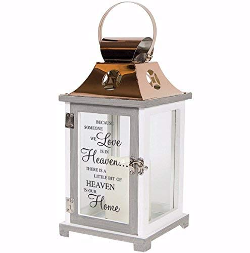 Heaven In Our Home Flameless Candles Copper Lantern
