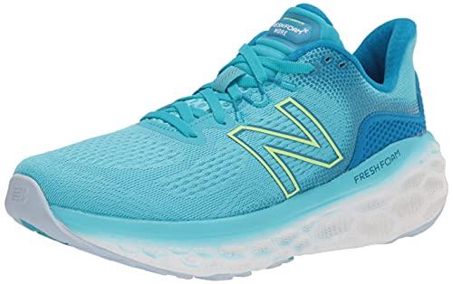 New Balance Women's Fresh Foam More V3 Running Shoe, Virtual Sky/Bleached Lime Glo/Star Glo, 8