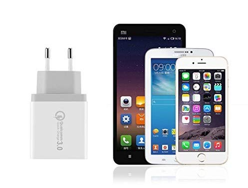 BLUEBEE - Cargador USB Multipuerto Quick Charge 3.0 30W Enchufe USB [Qualcomm Certificado] Cargador Rapido Cargador Movil para Samsung S9/Note 9/S8/iPhone, LG, Nexus, HTC, iPad y Más