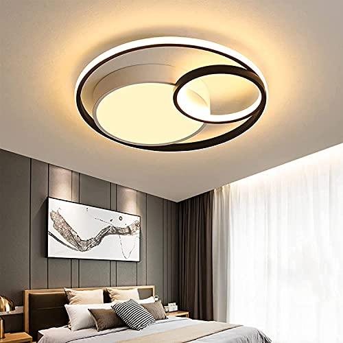 Moderna Plafoniera LED Soffitto Dimmerabile 55W Lampadari Camera Letto Creativo Minimalista Tre Cerchi Disegno Lampadario Soggiorno Moderno per Sala da Pranzo da Letto Cucina Balcone Ø48CM