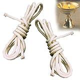 DENDAWEN Mecha de repuesto de algodón, mecha para velas de aceite, para lámparas de aceite y velas, fabricación de velas DIY, antorcha de jardín, antorcha de bambú