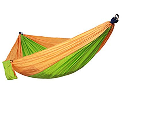 Double Hammock - Portable Lightweight Parachute Nylon for Backpacking, Hiking, Camping, Outdoors Travel (Multicolor 3,270140CM)