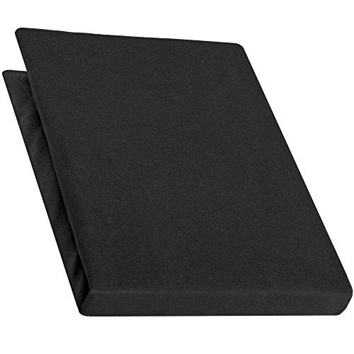 aqua-textiel Pur Topper hoeslaken 90x200-100x200 cm zwart boxspringbedden topperlaken katoen