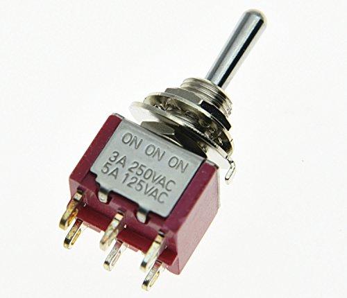 10pcs Mini MTS-102 3-Pin Single pole Double Throw on-on 6 A 125VAC interrupteurs Kits de haute qualité