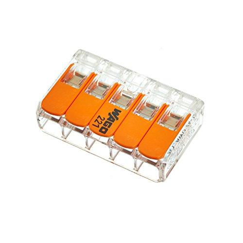 Wago Hebelverbindungsklemme 5 x 0,2-4 mm², 10 Stück Packung, BLV221415