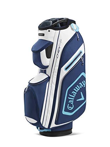 Callaway Golf Chev 14+ Cartbag 2020, Unisex, 2020 Callaway Chev 14+ Cartbag, Weiß/Marineblau, 5120136, Weiß / Navy, Einheitsgröße
