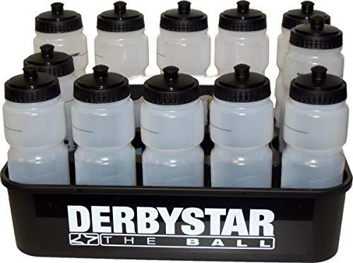 Sarango Sport Derbystar 12er Trinkflaschen Set Bio-Bottle BPA frei inkl. Trinkflaschenhalter
