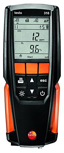 testo 310 I Residential Combustion Analyzer Kit I Flue Gas Detector Set for Heating Systems