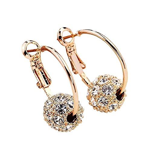 Ohrringe HäNgend Kristall Diamant Kugel Ohrstecker Ball Zirkoniakugeln Ohrhänger Ziemlich Ohrringlifter Jackets Hypoallergen Ohrschmuck Ziemlich Ohrringlifter Vintage Elegant Creolen