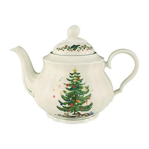 Seltmann Weiden Marieluise Weihnachten Teekanne 1,1 L, Grün/Bunt