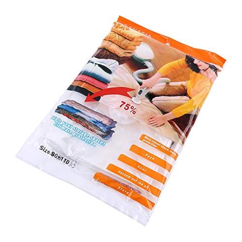 Mothinessto : Bolsa de Almacenamiento al vacío Práctica Grande Bolsas de Almacenamiento comprimidas al vacío Organizador Ahorrador de Espacio en el hogar (80 X 110 cm)(60 * 80)