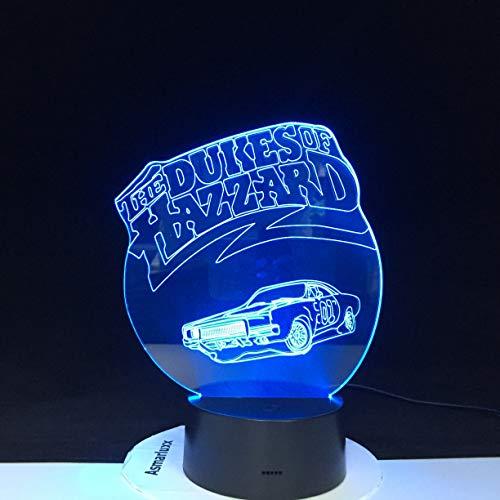 The Night Light Multi 3D Color LED W Mesa de iluminación Regalo para niños Cumpleaños