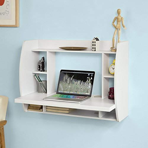 A floating desk is space saving kids furniture and a good idea for a small kids bedroom