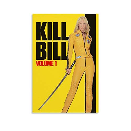GUAHUA Poster classique populaire des films Uma Thurman Kill Bill 2 sur toile et décoration murale moderne pour chambre à coucher 30 x 45 cm