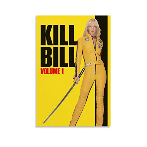 Classic Popular Movies Uma Thurman Kill Bill Vintage Movie Poster 2 Canvas Art Poster and Wall Art Picture Print Modern Family Bedroom Decor Posters 12x18inch(30x45cm)