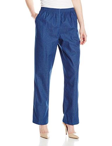 Alfred Dunner Women'S Petite Average Denim Pant, Denim, 8P