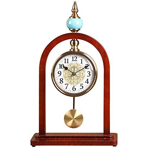 Reloj de Chimenea Reloj de Escritorio Reloj de péndulo Reloj de Madera Vintage nórdico Reloj Digital silencioso Sala de Estar Decoración de Escritorio Creativa Regalo, Adecuado para decoraci