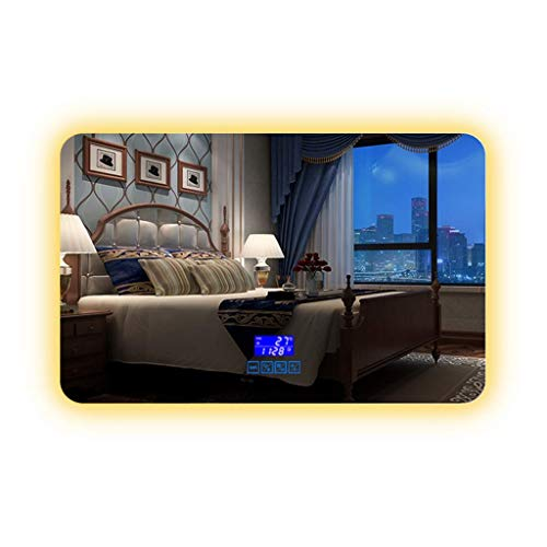 ZHAOJYZ Household badkamerspiegel met ledverlichting, wandmontage, anti-condens, badkamerspiegel met bluetooth-licht
