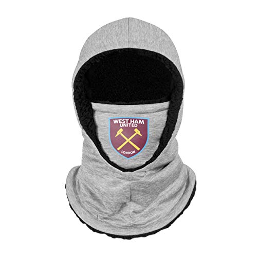 Forever Collectibles UK WEST HAM UNITED FC GREY HOODED SNOOD SCARF