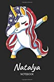Natalya - Notebook: Blank Ruled Name Personalized & Customized Patriotic USA Flag Hair Dabbing Unicorn School Notebook Journal for Girls & Women. ... of July, Birthday, Christmas Gift for Girls.