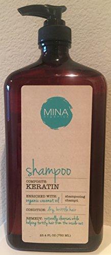 Mina Organics Keratin Shampoo, 25.4 fl oz.