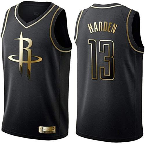 Miyapy NBA Houston Rockets 13# Harden 0# Westbrook Camiseta de Jugador de Baloncesto para Hombres, Camiseta con Bordado, Camiseta de los fanáticos, Chaleco Transpirable Deportivas de Jersey Swingman