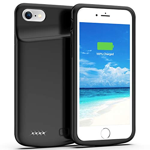 Swaller Battery Case for iPhone 8/7/SE 2020(2nd Generation), 4500mAh Charging Case Charger Case for iPhone 8/7/SE 2020(2nd Generation) (4.7 inch) (Black)