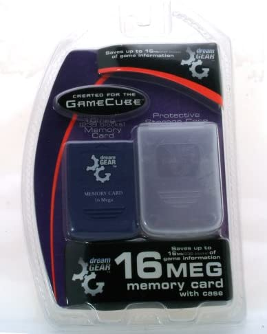 high quality Gamecube high quality 16 Meg Memory new arrival Card with Case by Dream Gear outlet sale